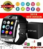 Bluetooth Smart Watch With Camera Waterproof Smartwatch Touch Screen Phone Unlocked Cell Phone Watch Smart Wrist Watch Smart Watches For Android Phones Samsung IOS iPhone 7 8 X Plus (black)