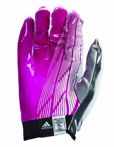Gants De Football Adidas Adizero 5 Étoiles Rose / Blanc / Argent