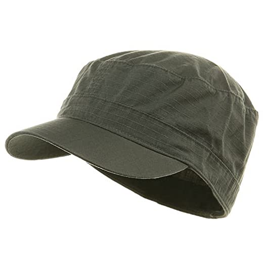 3b159798 Amazon.com: Fitted Cotton Ripstop Army Cap-Charcoal Small/Medium ...