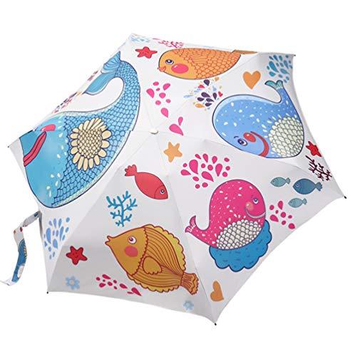 ANRIRA Mini Travel Sun&Rain Umbrella - Light Compact Parasol Windproof with 95% UV Protection for Women Girls Kids Outdoor Walking Multiple Colors,K