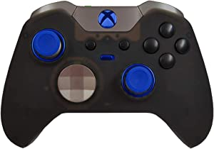 Elite 5000+ Modded Controller for Microsoft Xbox One - Custom Design That Works on All Shooter Games (Black and Blue Out)