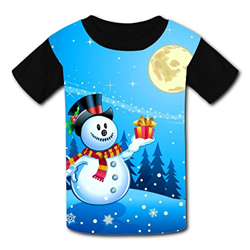 O-Neck New Unique T-Shirt 3D Make Your Own With Snowman For Boy -