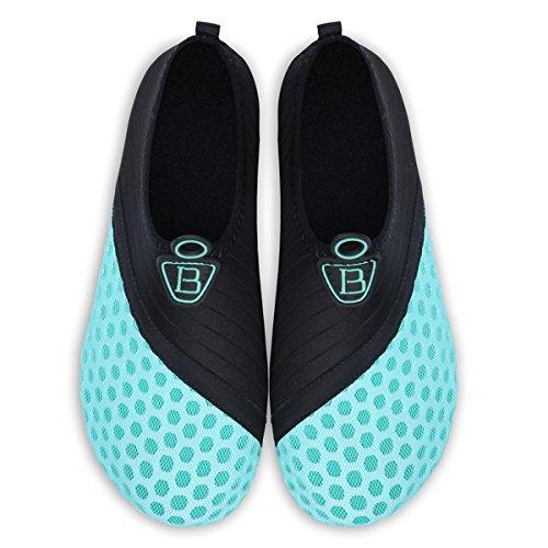Barerun Barefoot Quick-Dry Water Sports Shoes Aqua Socks for Swim Beach Pool Surf Yoga for Women Men 8.5-9.5 US Women by Barerun (Image #4)