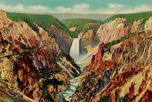 Grand Canyon Yellowstone Park - Yellowstone Park 1920 Grand Canyon from Artists Point Poster Print by Unknown (24 x 36)