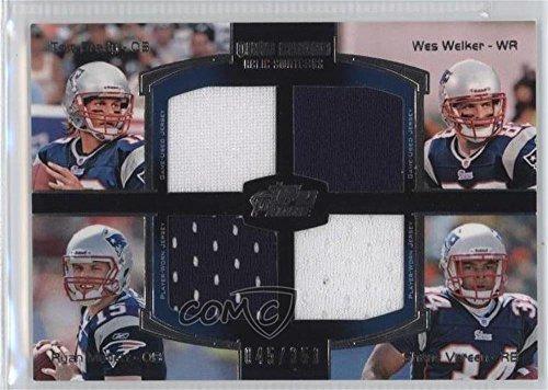 Tom Brady  Wes Welker  Ryan Mallett  Shane Vereen  45 350  Football Card  2011 Topps Prime   Quad Combo Relics  Qcr Bwmv