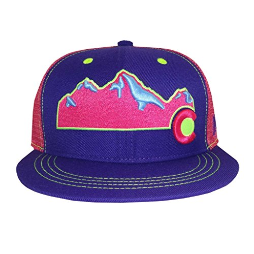 Awesome Flat Caps - Aksels Colorado Mountain Flat Bill Snapback Hat (Awesome)