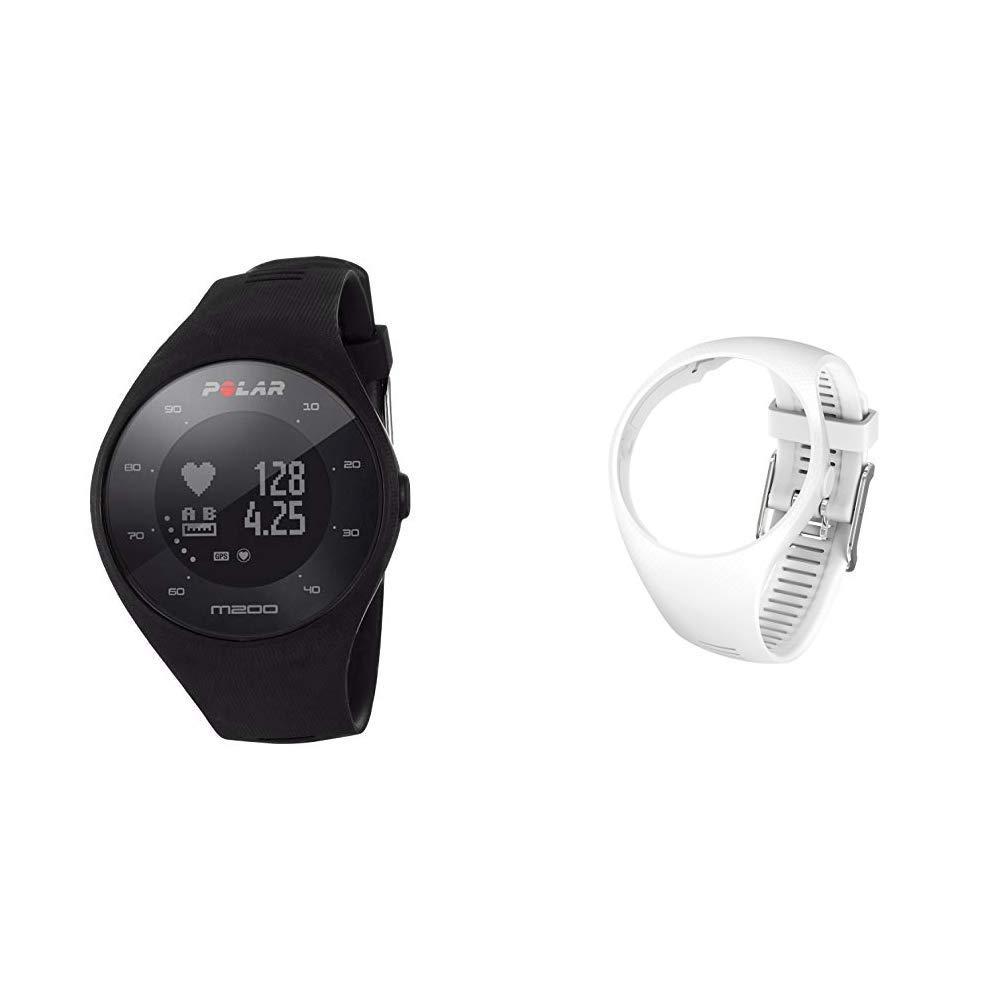 Polar M200 Orologio GPS con Cardiofrequenzimetro Integrato, Monitoraggio Attività Fisica e Sonno, Un + Polar Cinturino di Ricambio M200, Taglia S/M, Bianco product image