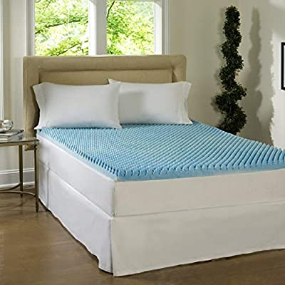 Simmons Beautyrest Comforpedic Loft from Beautyrest Dorm 3-inch Textured Gel Memory Foam Mattress Topper