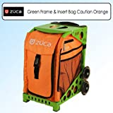 Zuca Sport Bundle With Green Frame -SFGREEN & Sport Insert Bag Caution Orange -SIBCT041