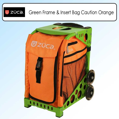 Zuca Sport Bundle With Green Frame -SFGREEN & Sport Insert Bag Caution Orange -SIBCT041 by ZUCA