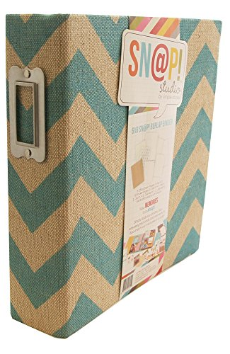 Simple Stories Snapt Burlap Binder, 6 by 8-Inch, Teal by Simple