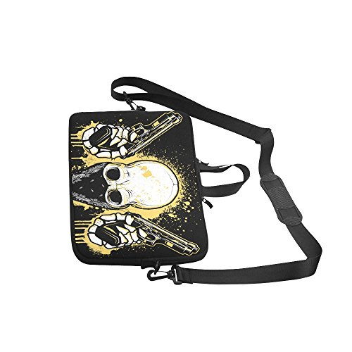 Punk Skull 100% Water Resistant Neoprene Laptop Sleeve Case Cover for 15