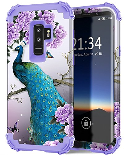 Galaxy S9 plus case,PIXIU Unique Hybrid Heavy Duty Shockproof Protective Case without built-in screen protectorcases for Samsung Galaxy s9 plus 2018 released(Peafowl)