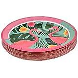 "Flamingo Party Supplies Dinnerware Set 24 9"" Plates"