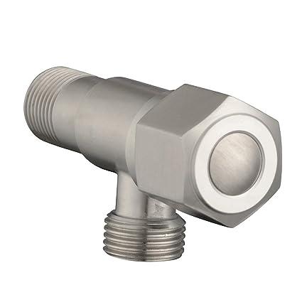 Acero inoxidable 304 Agua caliente y fría Universal Válvula de ángulo Calentador de agua Válvula de