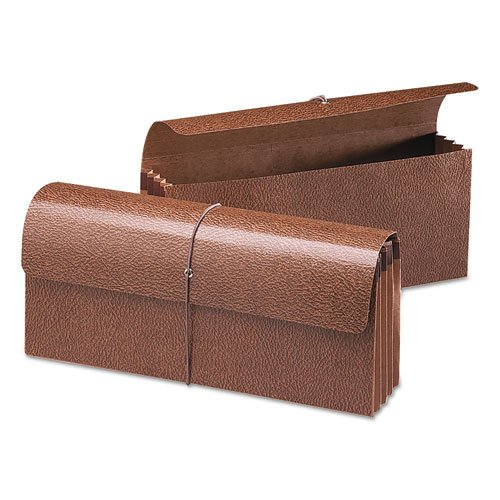 Smead 3 1/2 Inch Expansion Wallets, 12 x 5, Leather-Like Redrope ()