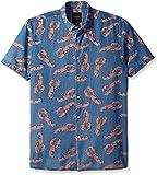 Barney Cools Mens Short Sleeve Denim Lobster Shirt