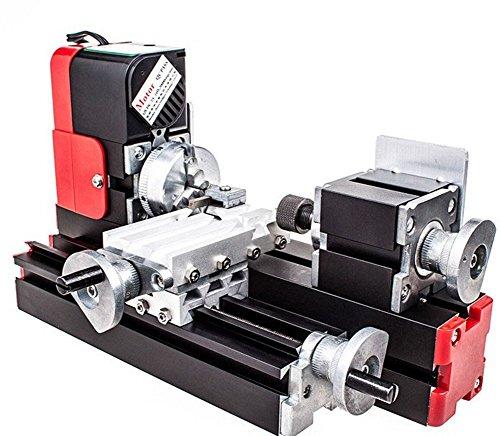 chuangsheng Mini Lathe Machine,12V Miniature Metal Multifunction Lathe Machine DIY 20000Rev/min 45135mm