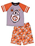 LEGO Star Wars Big Boys' BB-8 2-Piece Pajama Short Set, Orggry, 10/12