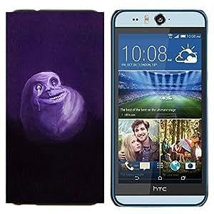 TECHCASE---Cubierta de la caja de protección para la piel dura ** HTC Desire Eye ( M910x ) ** --Fantasma lindo del monstruo blanco Flying Dibujo de la historieta