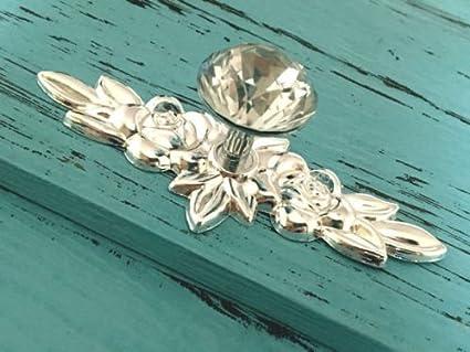 Cabinet Pull Antique, Cabinet Pulls Knob Glass Crystal Drawer Knob Dresser Pulls  Cabinet Knob Flower