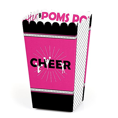 We've Got Spirit - Cheerleading - Birthday Party or Cheerleader Party Favor Popcorn Treat Boxes - Set of 12 -