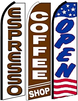Barber King Swooper Feather Flag Sign Pack of 10 Hardware not Included