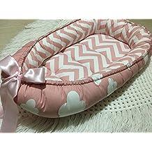 Babynest Bed Pink Baby Nest Newborn Handmade Sleep Cot Crib Snuggle Cocoon