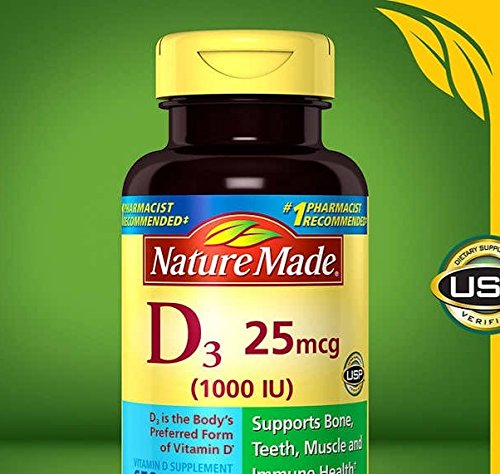 Nature Made® Vitamin D3 1000 IU, 600 Softgels