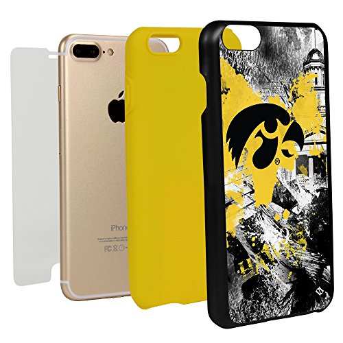 Guard Dog Paulson Designs Hybrid Phone Case for iPhone 7 Plus and iPhone 8 Plus (Iowa Hawkeyes)