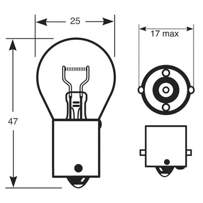 Quality Motorbike Bike Ped 343 Front//Rear Indicator Bulbs 12V Amber Straight Pin