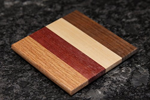Set of Natural Wood Coasters (Purpleheart) by Colors Of The Wood (Image #5)