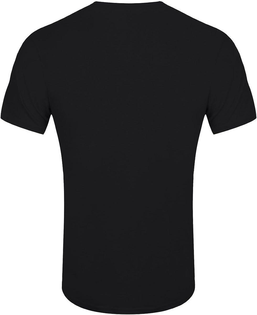 Grindstore T-Shirt Skeleton Dab Halloween da Uomo in Nero