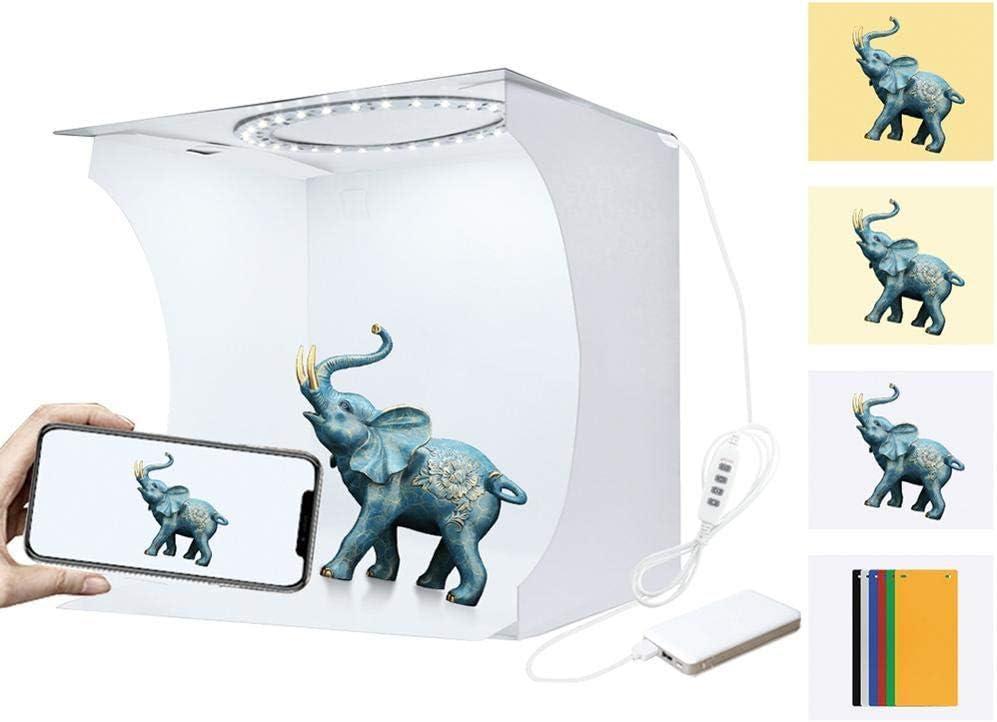 Leilims Tienda de campaña Nueva portátil de la Mesa de luz Plegable Ligera de la fotografía LED de Habitaciones Estudio Luz Suave de la Caja telones de Fondo for la cámara réflex Digital