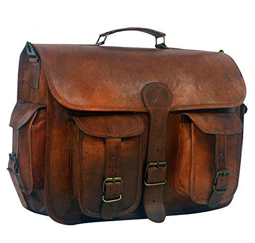Serguio Rogetti, Borsa a spalla uomo marrone Brown Briefcase / Satchel
