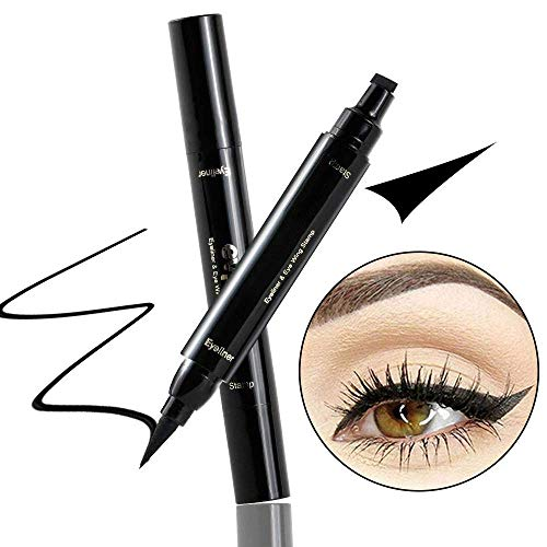 Beauty Essentials Objective New Sexy Waterproof Double Head Black Wing Shape Eyeliner Stamp Seal Eyeliner Pencil Cat Eye Cosmetic Makeup Tool Wing Style
