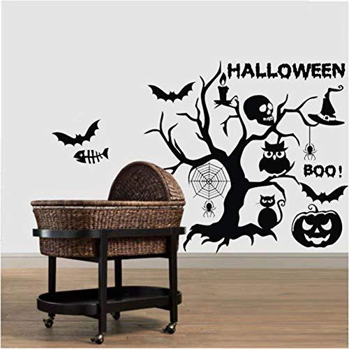 XUEXUE Halloween Wallpapers,Pumpkin Lantern Tree Skull Head,Halloween,Wall Decal, Mural, Sticker, Art Decor