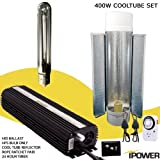 iPower 400 Watt HPS Digital Dimmable Grow Light System Kits Cool Tube Reflector Set Add-on Wing
