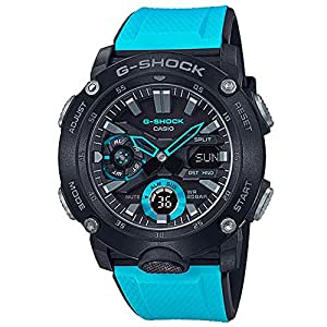 Men's Casio G-Shock Analog-Digital Carbon Core Guard Blue Resin Band Watch GA2000-1A2