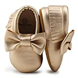 OOSAKU Infant Toddler Baby Soft Sole PU Leather