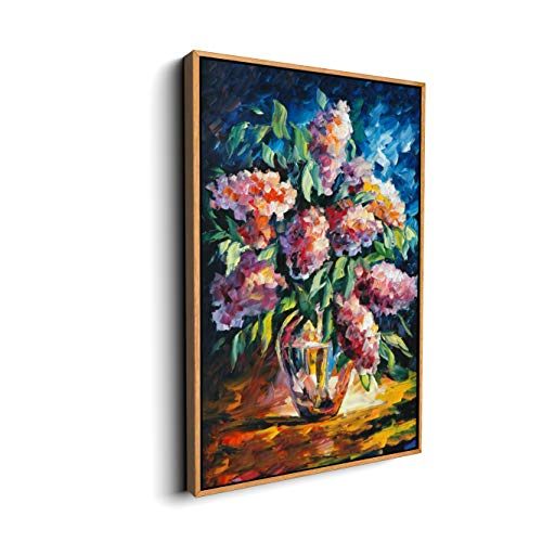 wall26 Floating Framed Canvas Wall Art for Living Room, Bedroom Bouquet Canvas Prints for Home Decoration Ready to Hang - 16x24 inches