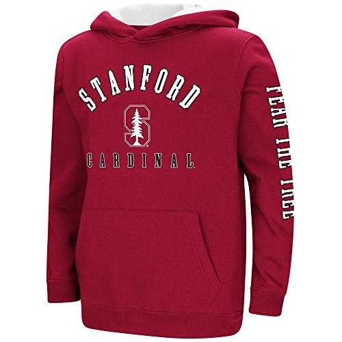 Colosseum Youth Stanford Cardinal Pull-Over Hoodie - XL (with Your Name Embroidered) ()