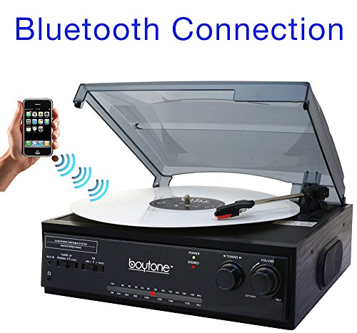 Boytone BT-13B Bluetooth Connection 3-Speed, Turntable Belt
