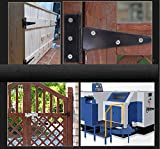 4Pack 4 Inch T Strap Heavy Duty Shed Door Hinges