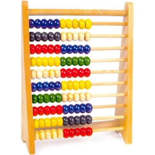 Zuvo Wooden Bead Abacus Counting Number Maths Educational Kids Educational Toy Bright Colour Toy Small