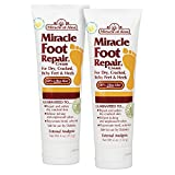 Miracle of Aloe, Miracle Foot Repair Cream with 60% UltraAloe 4 ounce tube - 2 pack