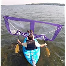 Sailskating LLC Downwind Super Kayak Sail Kit (Purple) - Compact, Portable, Easy Set up and Deploys Quickly. Start Sailing This Season!