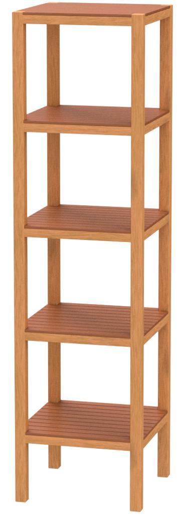 BoxLegend Ikea - Estantería de madera con 5 baldas, abedul macizo teñido, 140 x 37 x 37 cm, color marrón