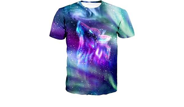 Amazon.com: Apanqiqi Space Galaxy Wolf T Shirt Men New Brand Hip Hop Tops Tees Poleras Hombre Casual 3D Tshirt Dropship: Clothing