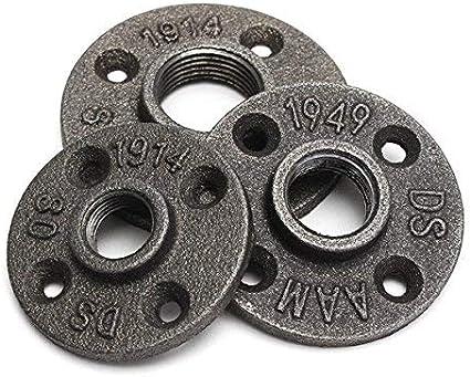 SUCAN 1/2 3/4 o 1 pulgada Brida negra reforzada Tubería de hierro Instalación de piso Plomería Brida roscada -1/2 pulgada